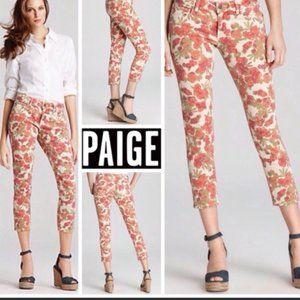 Paige Skyline Ankle Peg Skinny Jeans Spring Floral